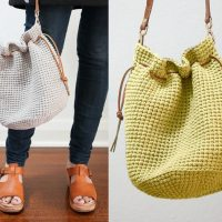 Crochet Pattern: Drawstring Bucket Bag
