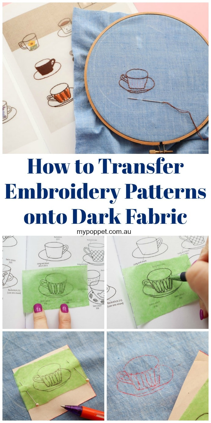 Embroidery Transfer Paper Printer : embroidery, transfer, paper, printer, Transfer, Embroidery, Patterns, Fabric, Poppet, Makes
