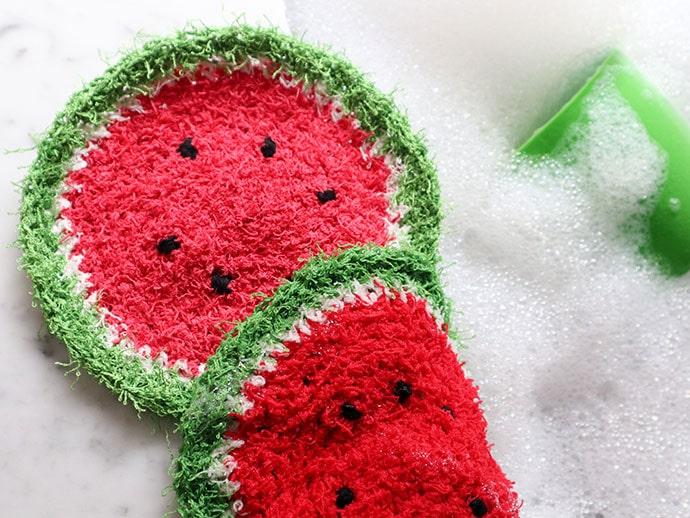 Watermelon Crochet Dishcloth Pattern mypoppet.com.au