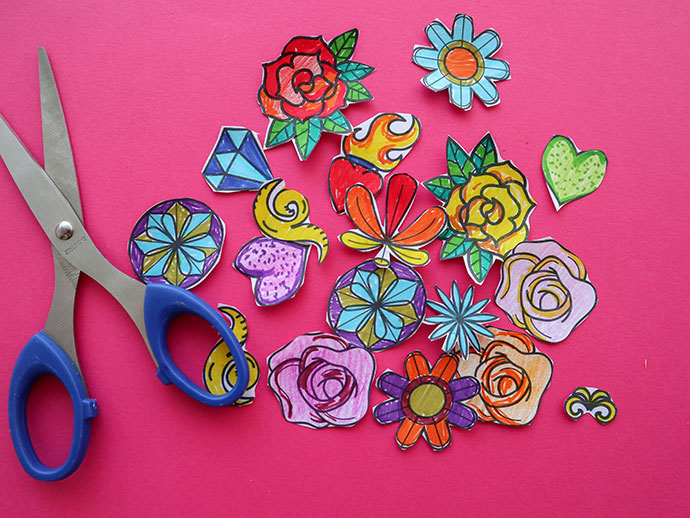 Halloween craft Decorate a Sugar Skull Activity Page mypoppet.com.au