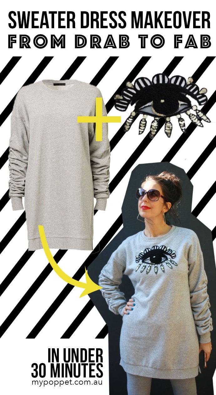 Sweater dress makeover mypoppet.com.au