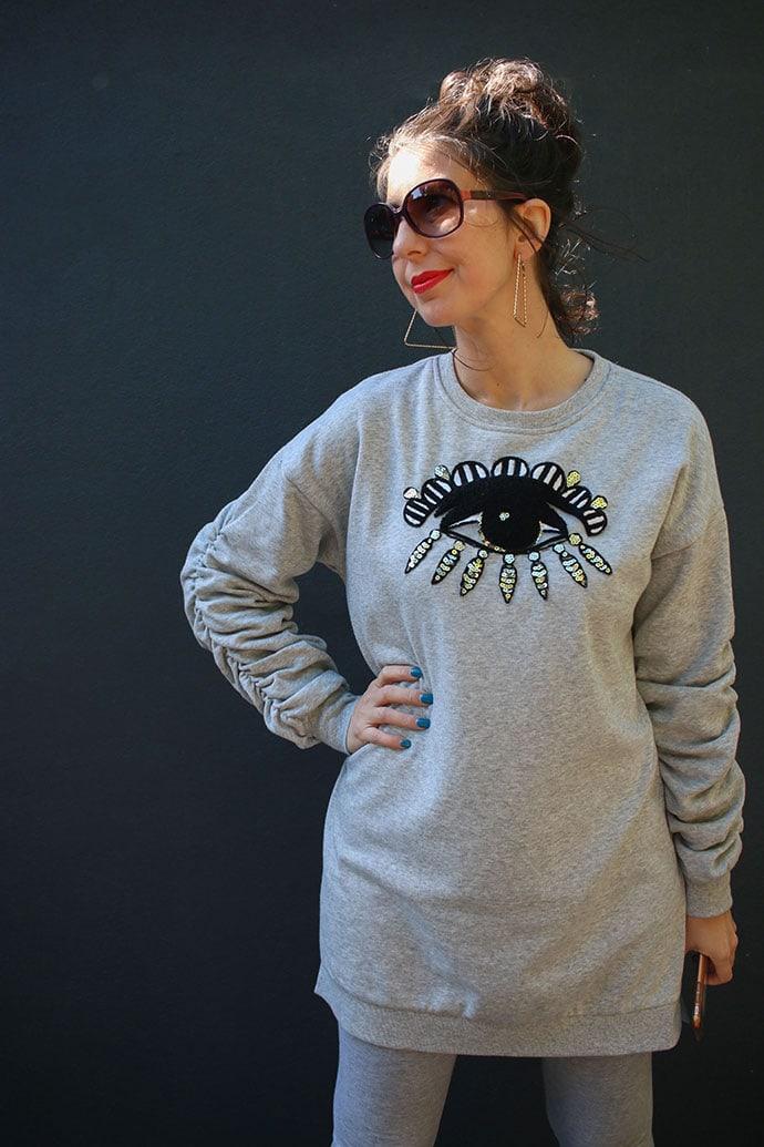 Kenzo style sweater dress makeover mypoppet.com.au