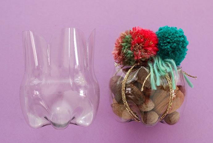 DIY plastic bottle mini storage container - mypoppet.com.au
