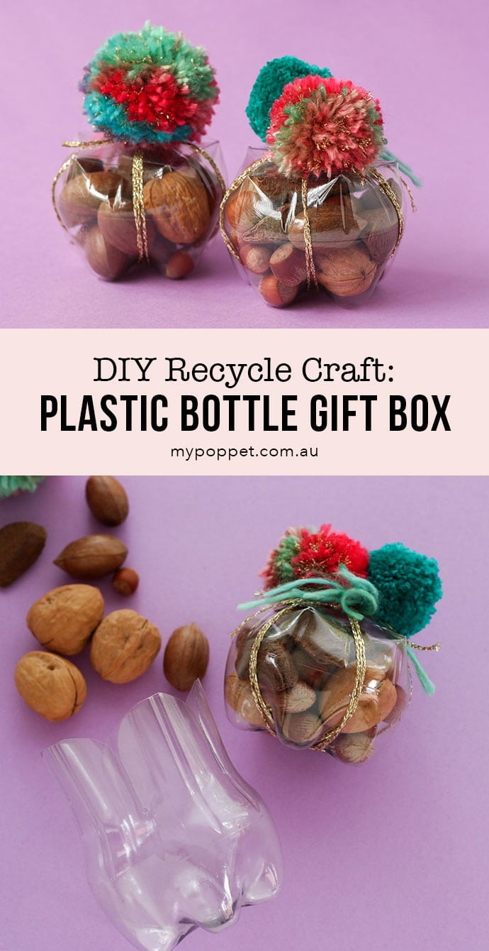 DIY Recycle Plastic Bottle storage container, gift box, party favor idea
