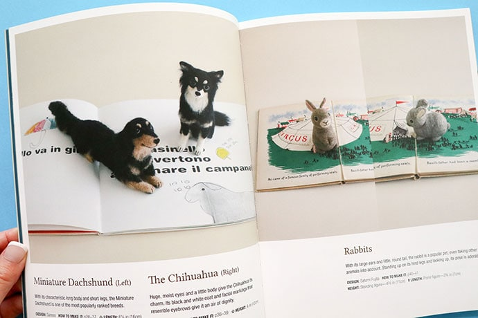 Needle Felting Craft Book Review Dogs and rabbits - mypoppet.com.au
