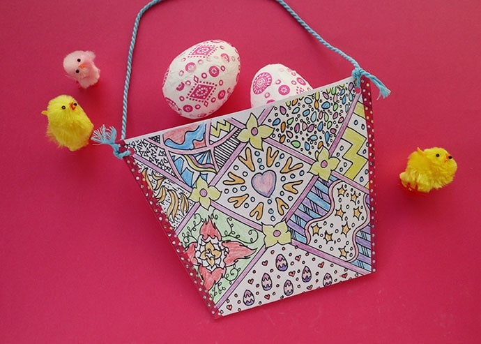 Kids Craft: Print & Colour Easter Basket