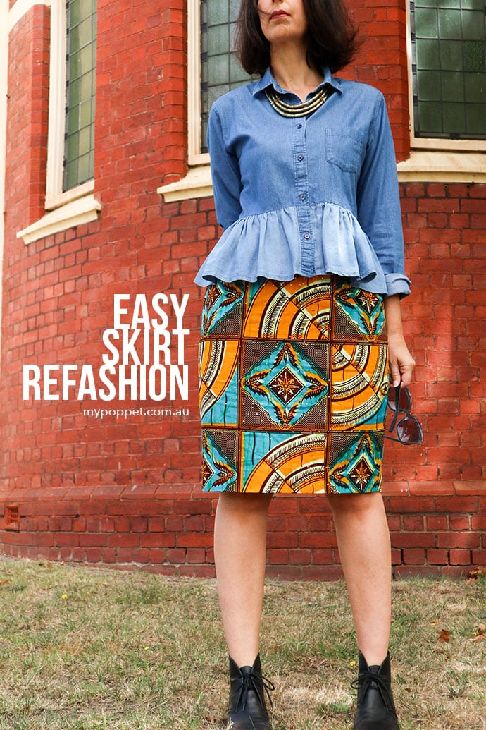 Easy skirt refashion - mypoppet.com.au