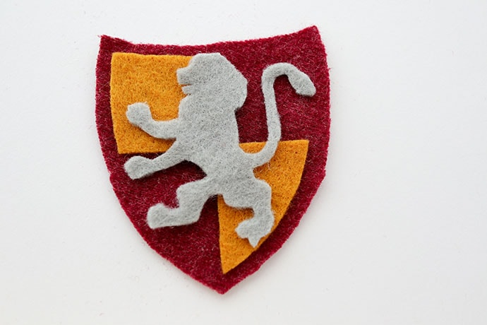 DIY Harry Potter Gryffindor Patch instructions- mypoppet.com.au