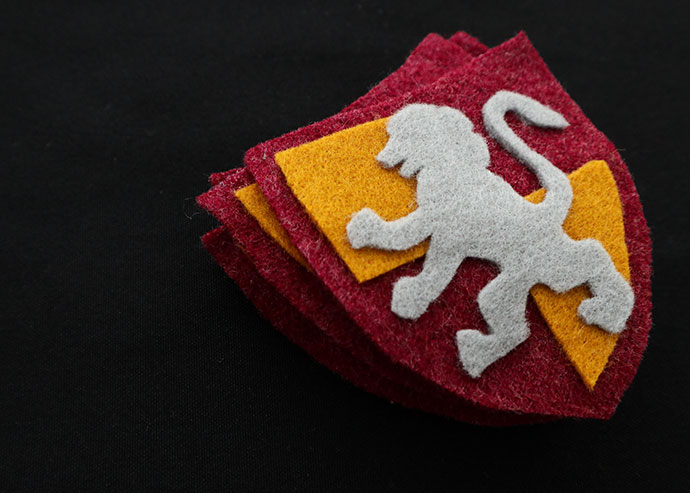 DIY Harry Potter Gryffindor Patch with Template