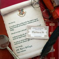Harry Potter Party Invitation Template - Hogwarts Acceptance Letter