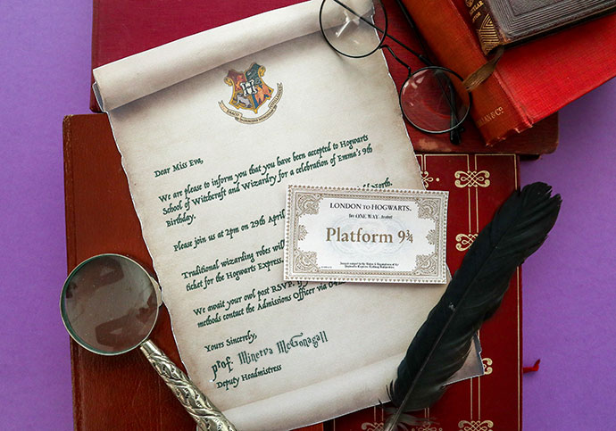 Harry Potter Party Invitation Hogwarts Acceptance Letter mypoppet.com.au