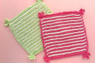 Stripe knitted washcloth pattern mypoppet.com.au
