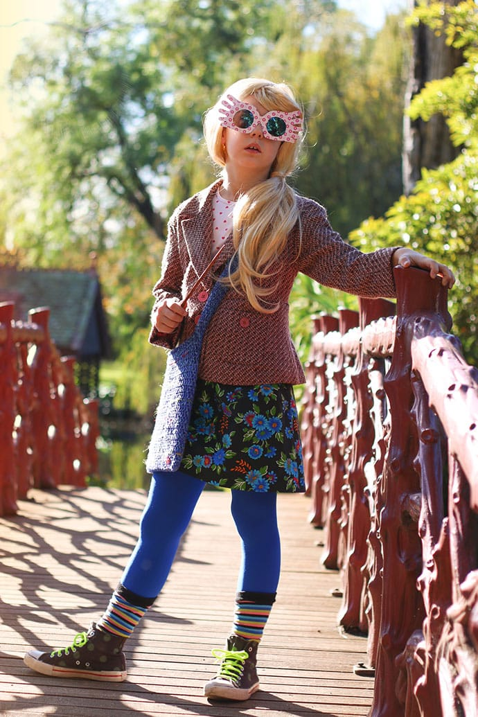 photo about Luna Lovegood Glasses Printable identified as Luna Lovegood Cosplay - The Best Selfmade Dress