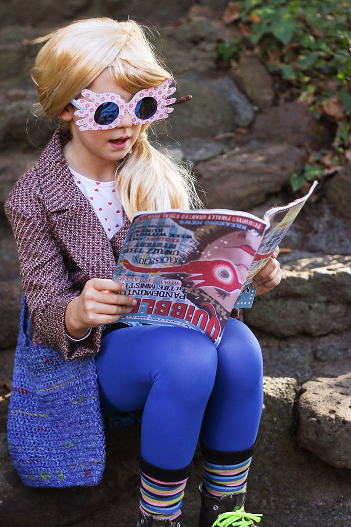 picture relating to Luna Lovegood Glasses Printable called Luna Lovegood Cosplay - The Best Do-it-yourself Dress