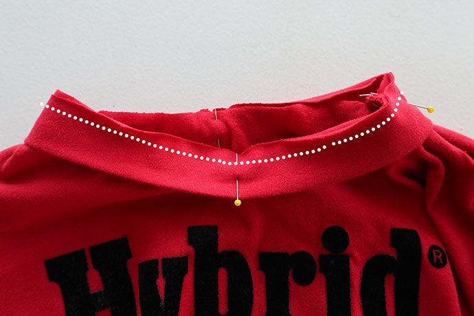 How to sew an t-shirt neckband - mypoppete.com.au