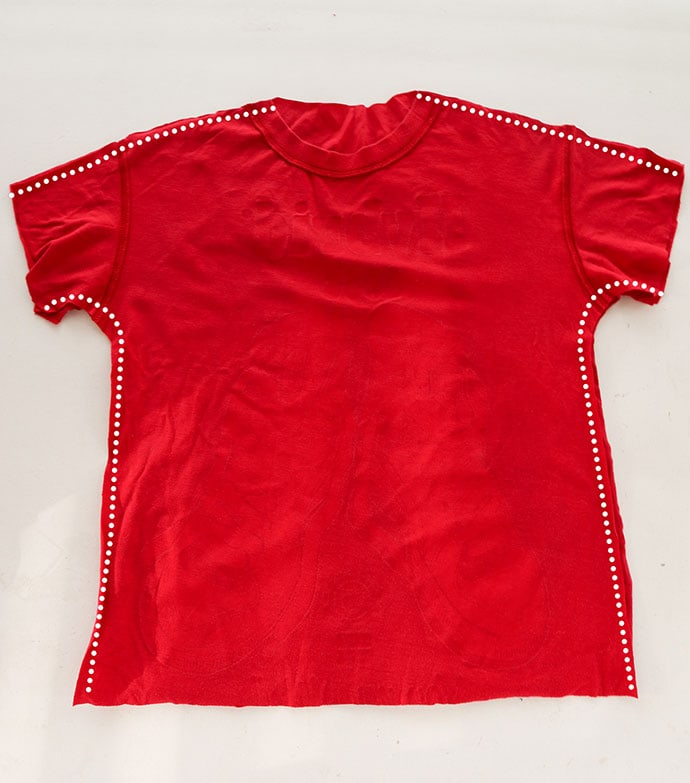 T-shirt refashion - from men's to kids size - mypoppet.com.au