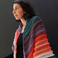 Sunset Peaks - Crochet Shawl Pattern