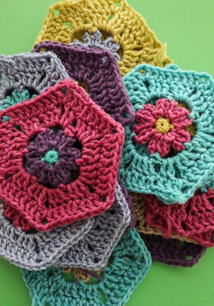 Crochet hexagons - mypoppet.com.au