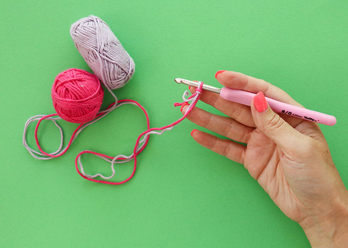 Crochet with 2 strands of yarn - mypoppet.com.au