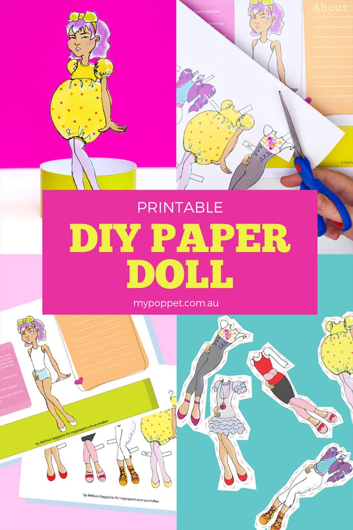 picture relating to Printable Paper Doll named Print Minimize: Do-it-yourself Paper Doll with 5 Dresses My Poppet Tends to make