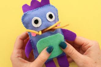 Gobble monster doll zero waste softie pattern - mypoppet.com.au