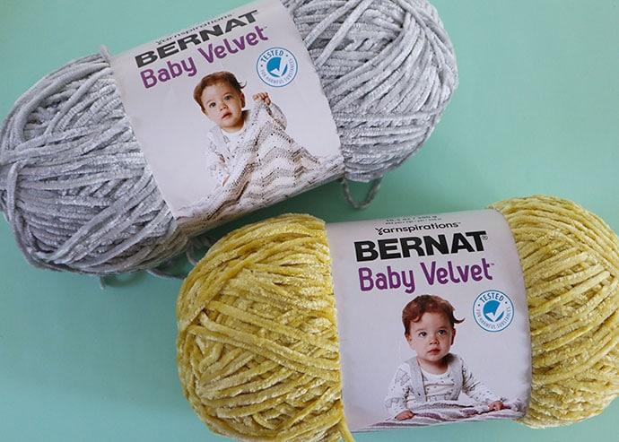 2 balls of yarn Bernat Baby Velvet yarn reveiw - mypoppet.com.au