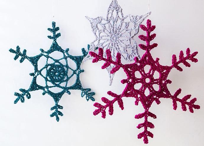 Giant Crochet Snowflake Ornament
