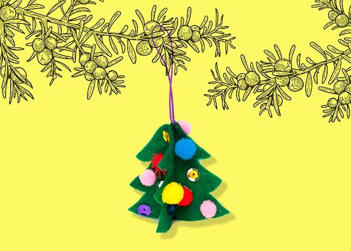 DIY Felt Christmas Tree Ornament