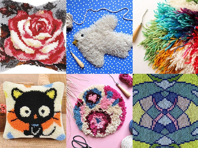 Time to try a new craft? Check out these Cool Latch Hook Kits