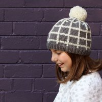 Grid Beanie Knitting Pattern - A cool Hat to keep you Warm!
