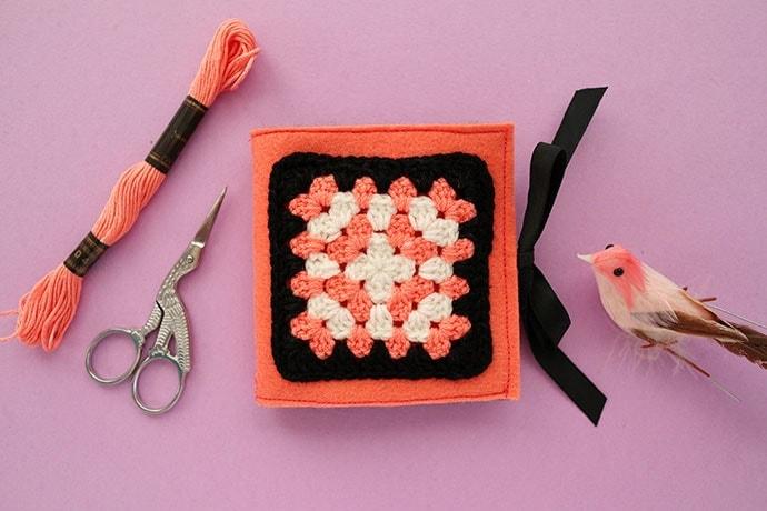 Sew a Granny Square Needle Book - DIY Tutorial
