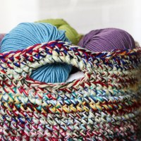 Scrap Yarn Crochet Basket - Scrapbusting Idea!