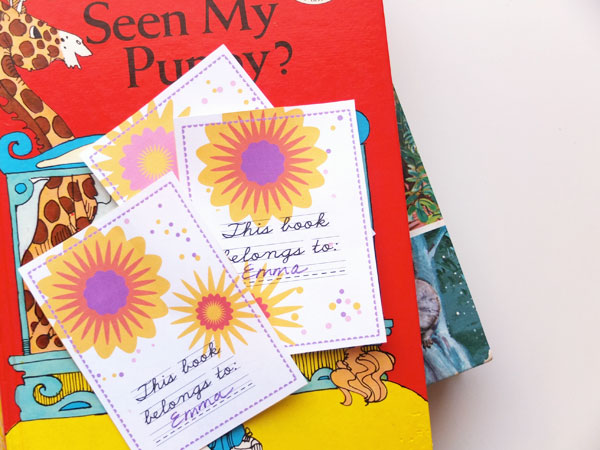 graphic about Free Printable Bookplates called Cost-free Printable - Floral Bookplates My Poppet Can make