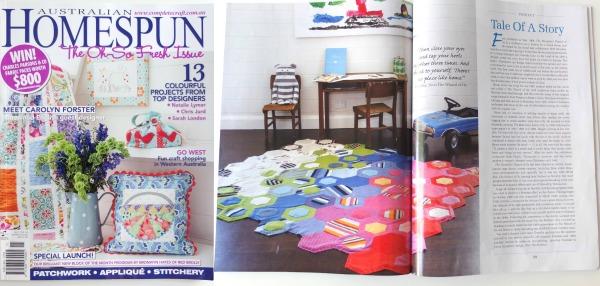 Homespun Magazine - felt rug