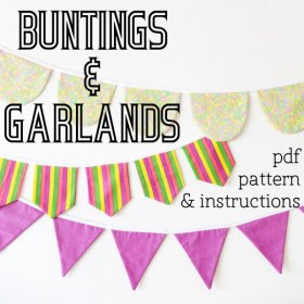 Make your own buntings and garlands template pattern