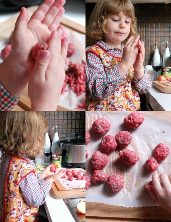 making meatballs recipe