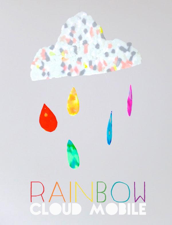 CLOUD Mobile rainbow DIY mypoppet.com.au