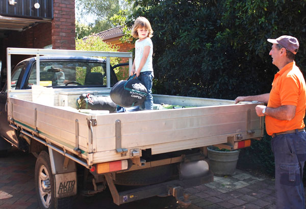 loading ute for camping