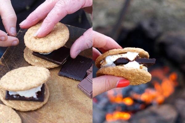 how to make smores campfire