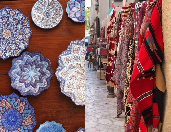 Handcrafts in Bastakiya area in Old Dubai