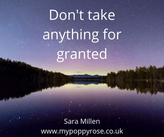 Quote: Don't take anything for granted.