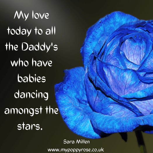 Angel Daddy Fathers day quote: My love today to all the daddy's who have babies playing amongst the stars.
