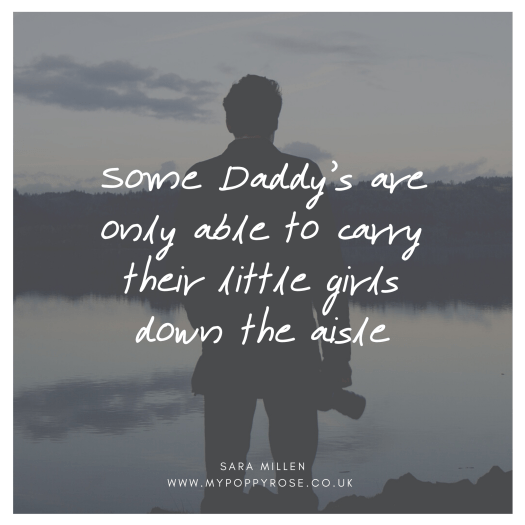 Angel daddy quote: Some Daddy's are only able to carry their little girls down the aisle.