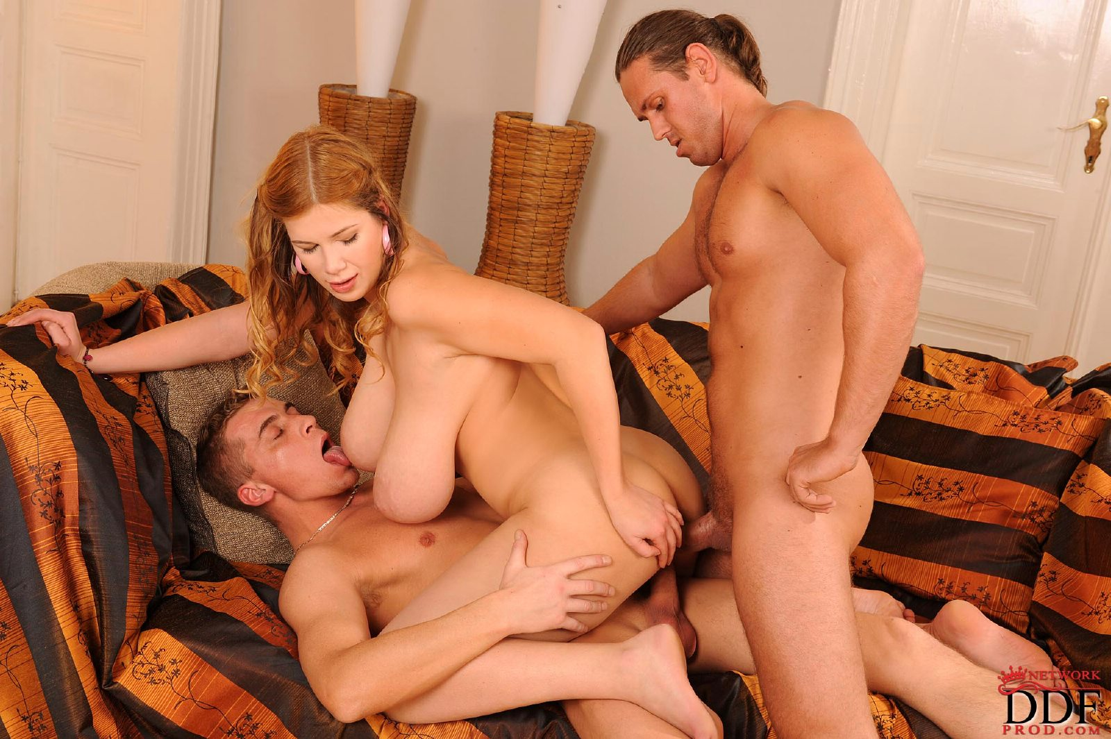 Terry Nova getting fucked by two guys at once.