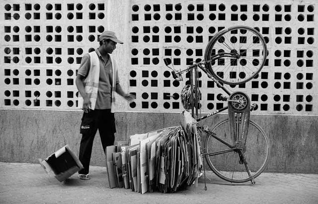 Cardboard Overload - Khuram Lawrence Street Portrait Photography