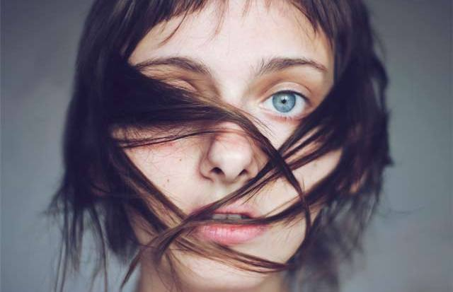 Trapped Girl Hair Portrait Photograph by Isabella