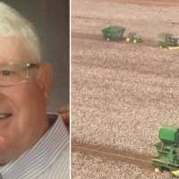 Farmers come together to harvest crop of neighbor fighting cancer