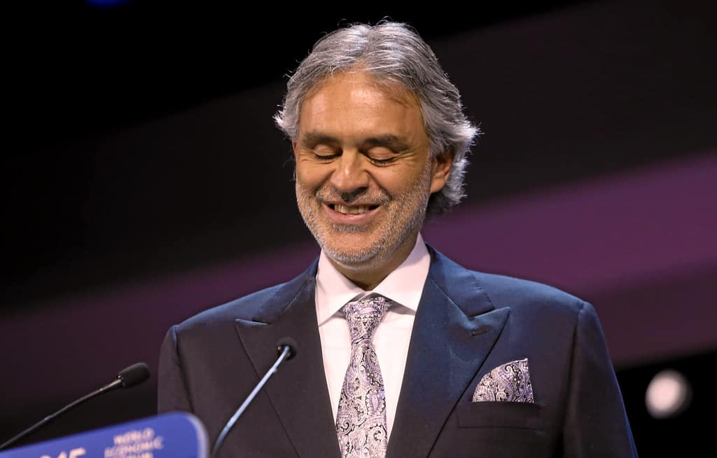 Andrea Bocelli at the The 21st Annual Crystal Awards held in in Davos on January 20, 2015