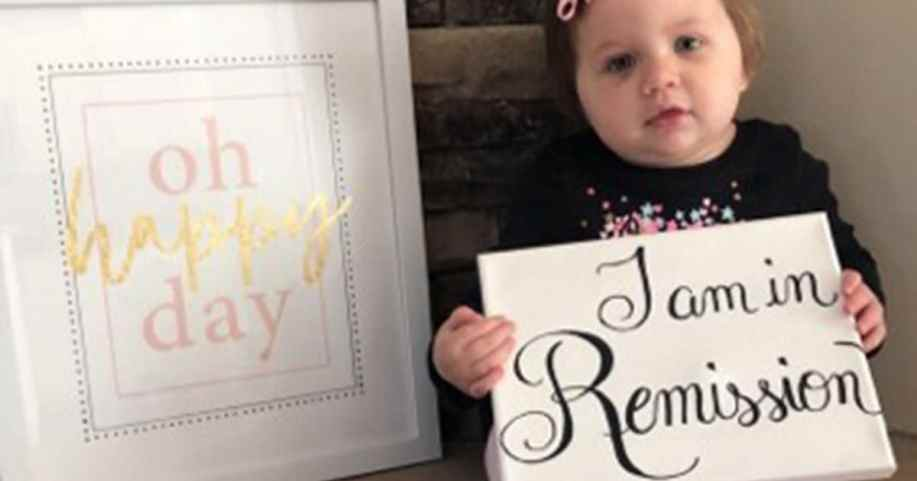 21-month-old Molly Hughes is now cancer-free