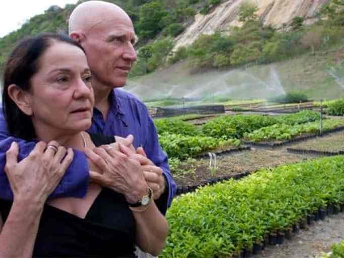 Sebastião Salgado with his wife Leila, reversed a rainforest destruction.